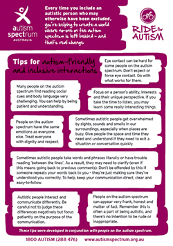 Autism-friendly and inclusive interactions